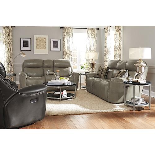 Flexsteel Latitudes-Mystic Reclining Living Room Group