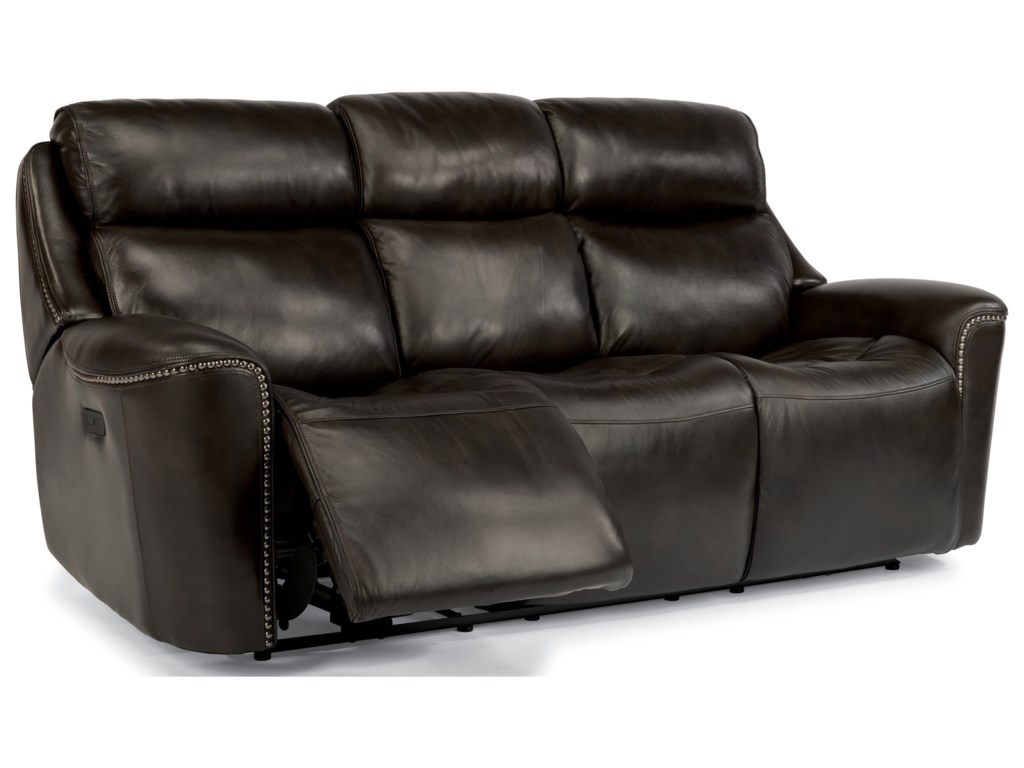 leather recliner sofa mcintyre classic reclining american inc made power