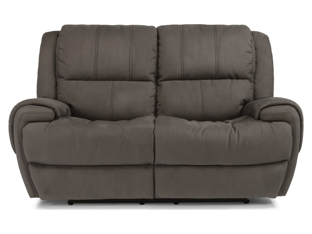 Flexsteel Latitudes-NancePower Reclining Loveseat with Power Headrest
