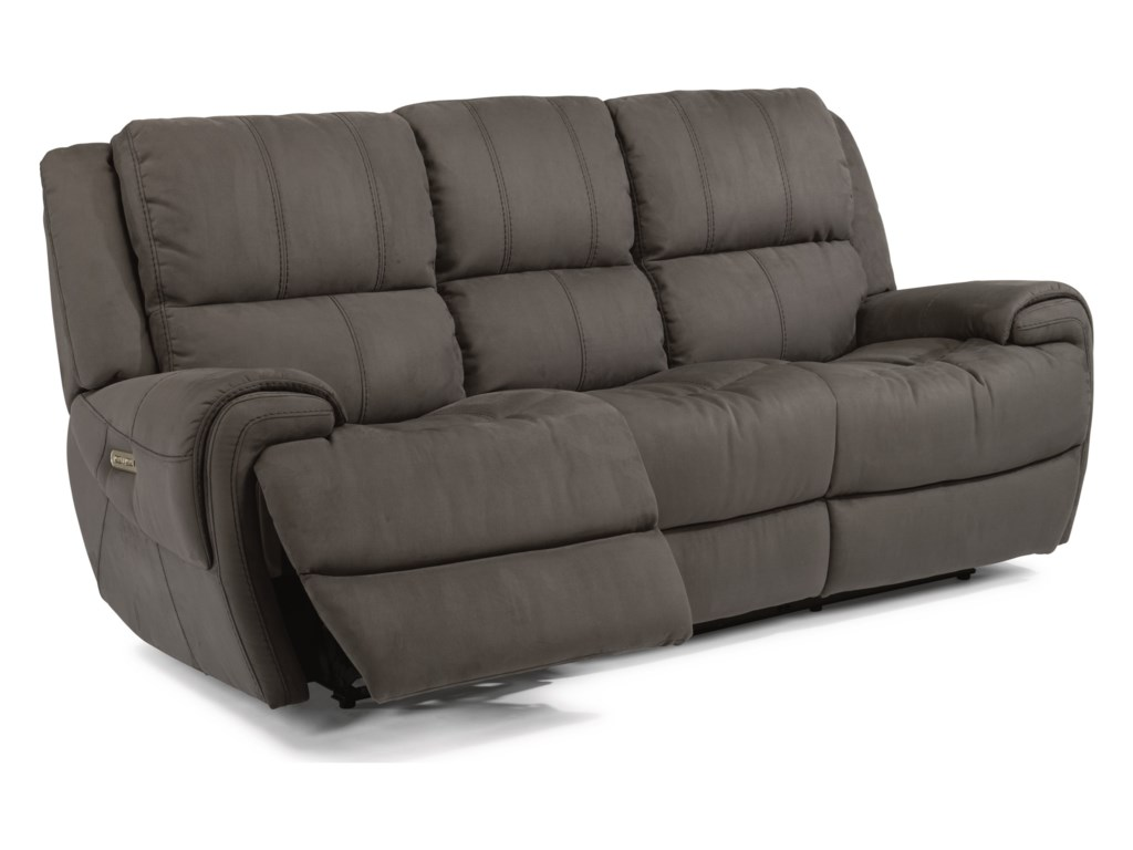 Flexsteel Latitudes-NancePower Reclining Sofa with Power Headrests