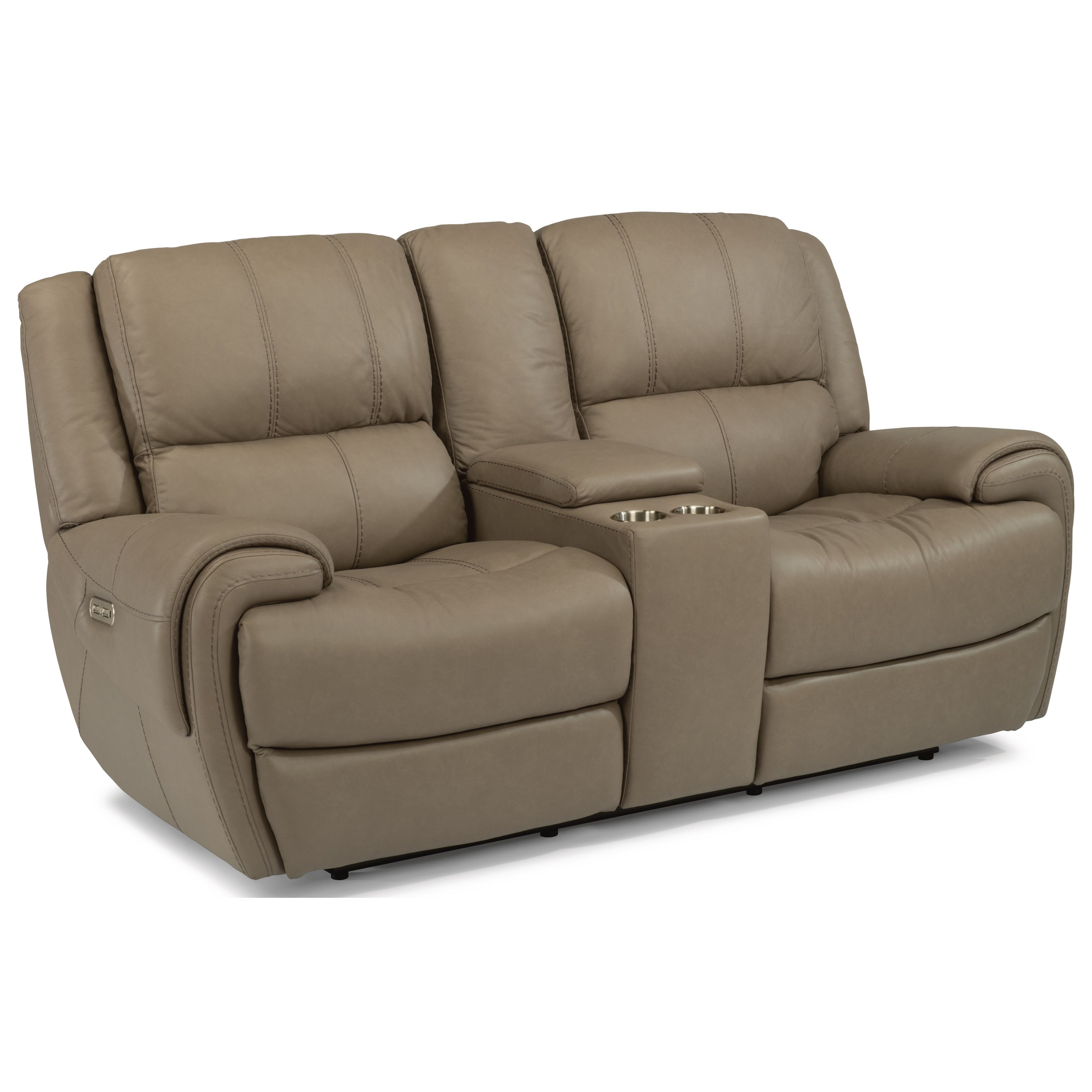 Flexsteel Latitudes-Nance Casual Power Reclining Loveseat with Console and Power Headrests - Conlinu0027s Furniture - Reclining Love Seats  sc 1 st  Conlinu0027s Furniture : power reclining loveseats - islam-shia.org