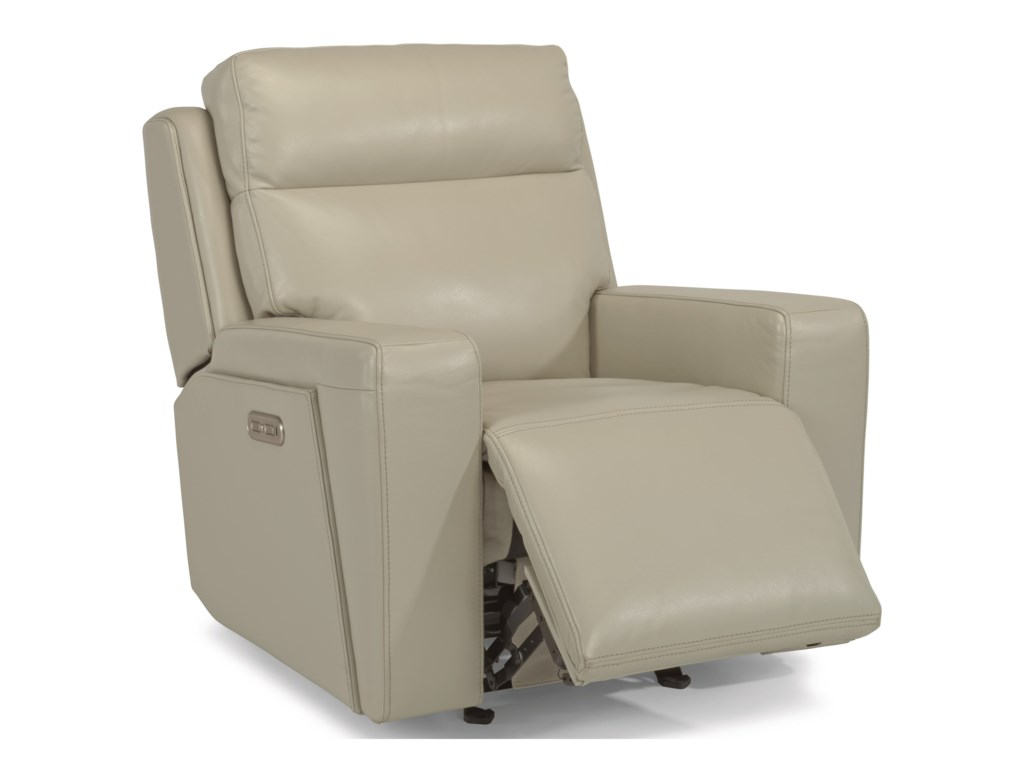 Flexsteel Latitudes-NikoPower Gliding Recliner with Power Headrest