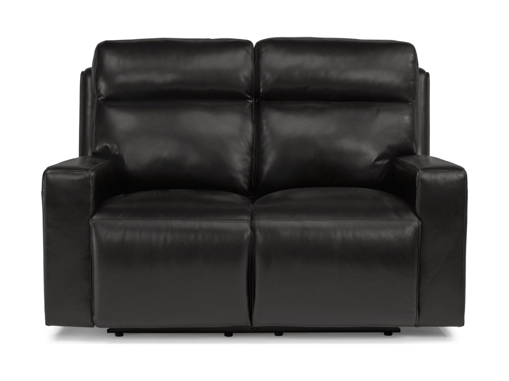 Flexsteel Latitudes-NikoPower Reclining Loveseat with Power Headrest