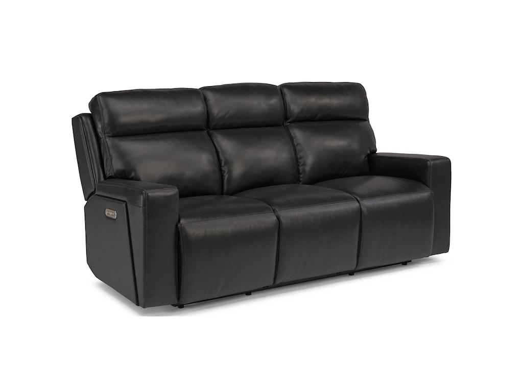 Flexsteel Latitudes-NikoPower Reclining Sofa with Power Headrests