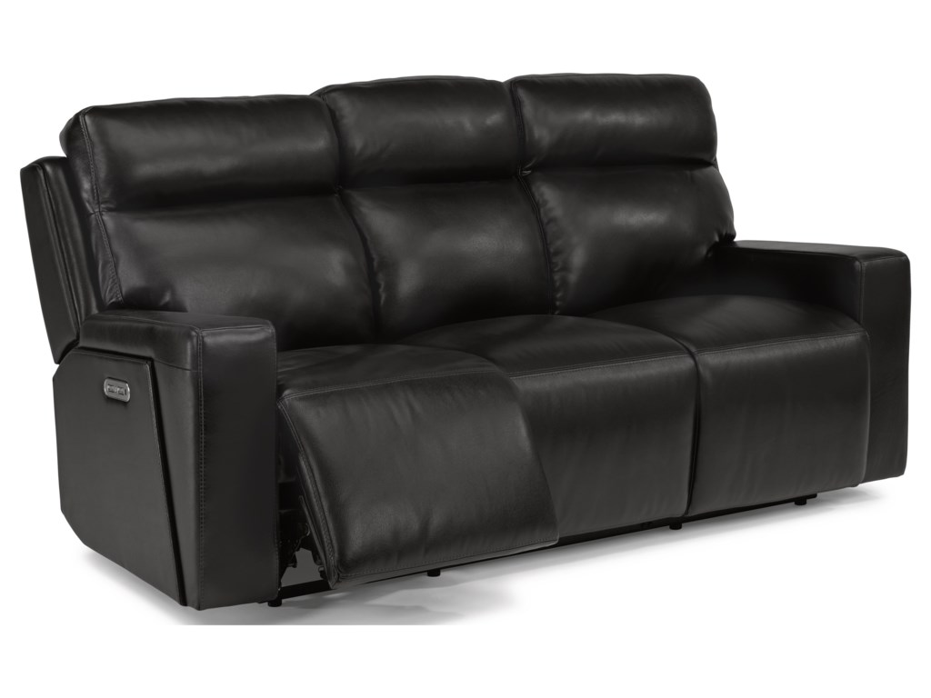 Flexsteel Latitudes-NikoPower Reclining Sofa with Power Headrests