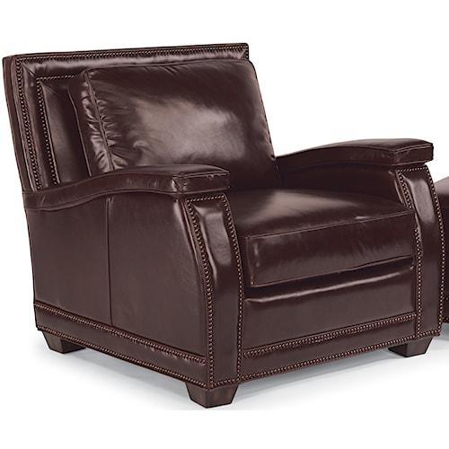 Flexsteel Latitudes-Raleigh Leather Chair with Nailhead Trim