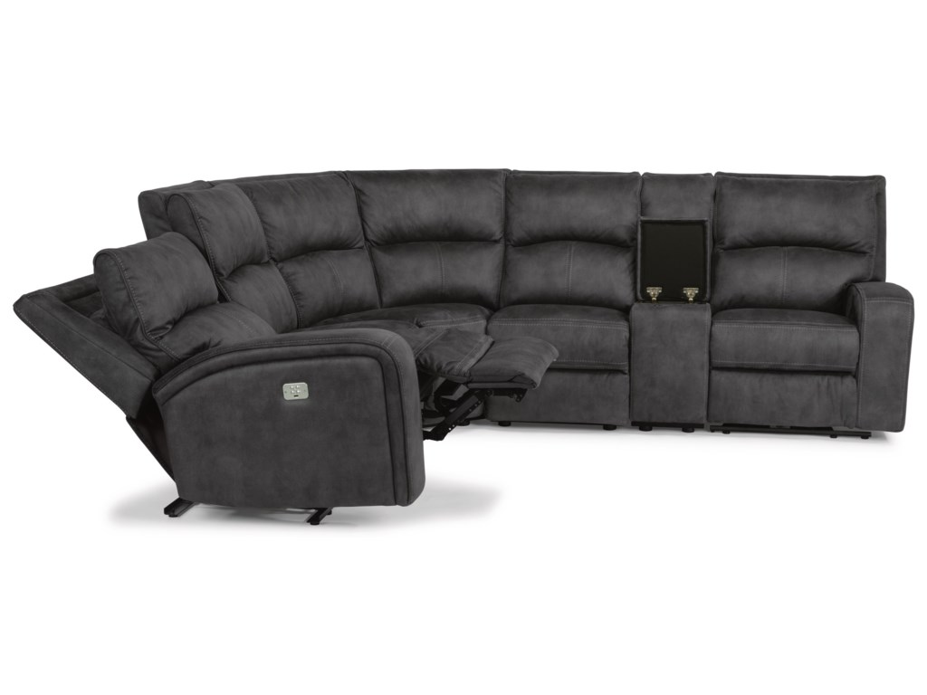 Flexsteel Latitudes - NirvanaPower Reclining L-Shaped Sectional