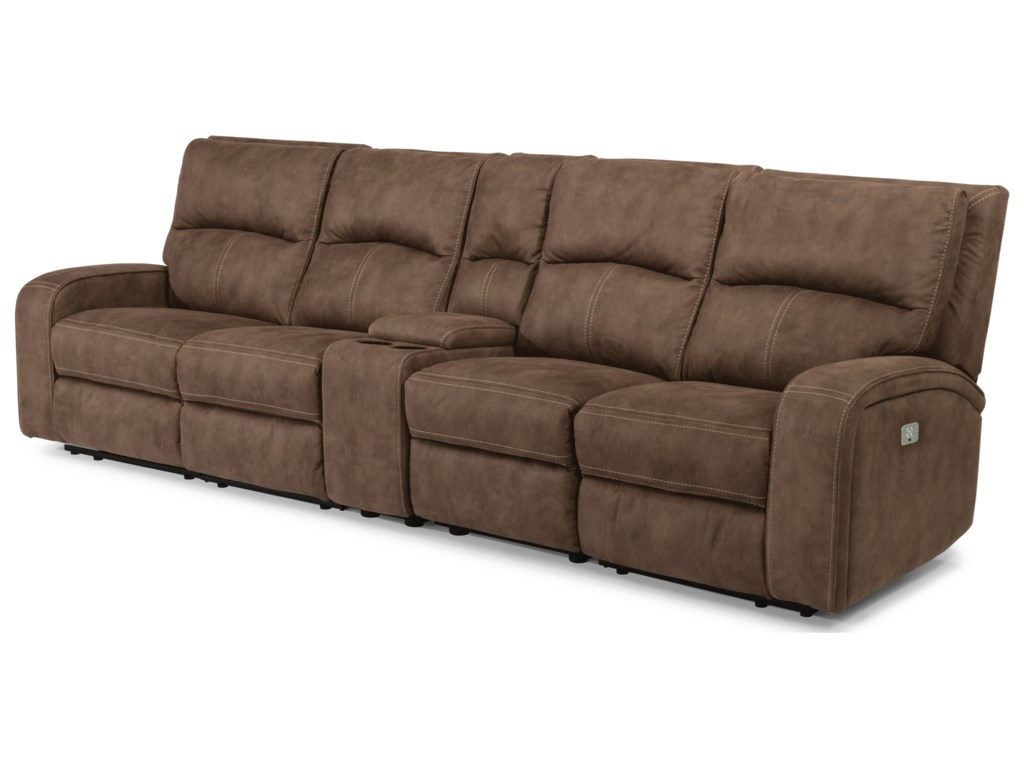 Flexsteel Latitudes - NirvanaPower Reclining Long Sectional