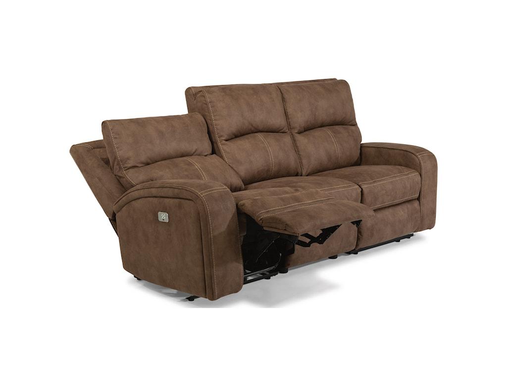 Flexsteel Latitudes - NirvanaPower Reclining Sofa with Power Headrests