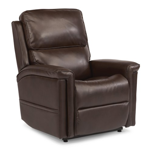 Flexsteel Latitudes-Samantha Power Infinite-Position Lift Recliner with Visco Gel Cushion and Lay-Flat