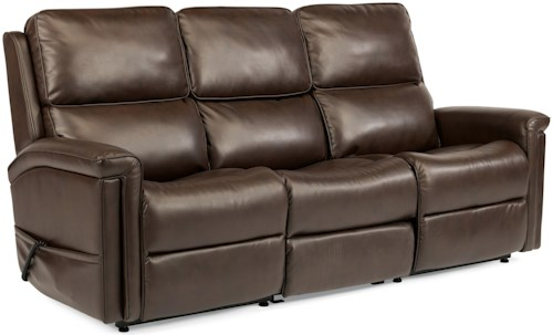 Flexsteel Latitudes-Samantha Lift Sofa with Lay-Flat Recline and Drop-Down Table