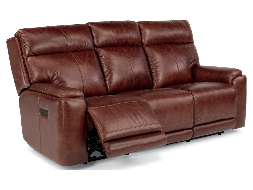 Flexsteel Latitudes - SiennaPower Reclining Sofa with Power Headrest