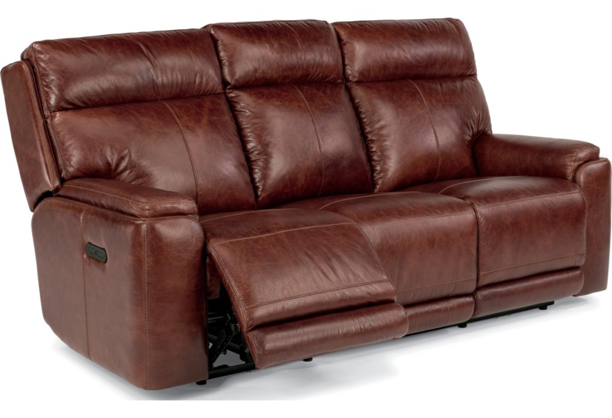 Latitudes-Sienna Power Reclining Sofa with Adjustable Headrests and USB  Ports by Flexsteel at Northeast Factory Direct