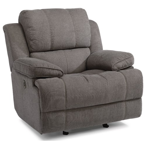Flexsteel Latitudes-Simon Casual Power Gliding Recliner with USB Ports