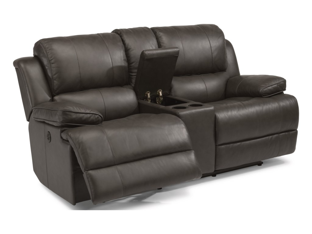 Flexsteel Latitudes-SimonPower Reclining Loveseat with Console