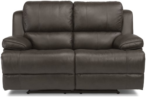 Flexsteel Latitudes-Simon Casual Power Reclining Loveseat with USB Ports