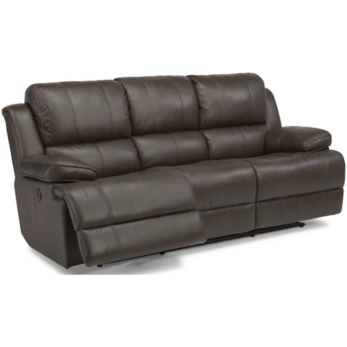Flexsteel Latitudes-Simon Casual Power Reclining Sofa with USB Ports