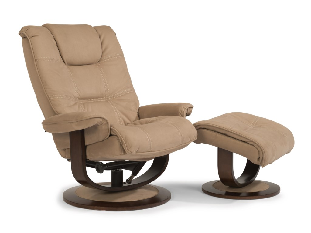 Flexsteel Latitudes-SpencerSpencer Reclining Chair and Ottoman Set