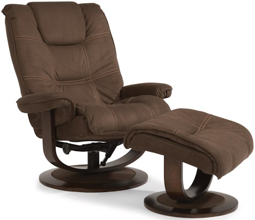 Flexsteel Latitudes-Spencer Spencer Modern Zero-Gravity Recliner and Ottoman Set