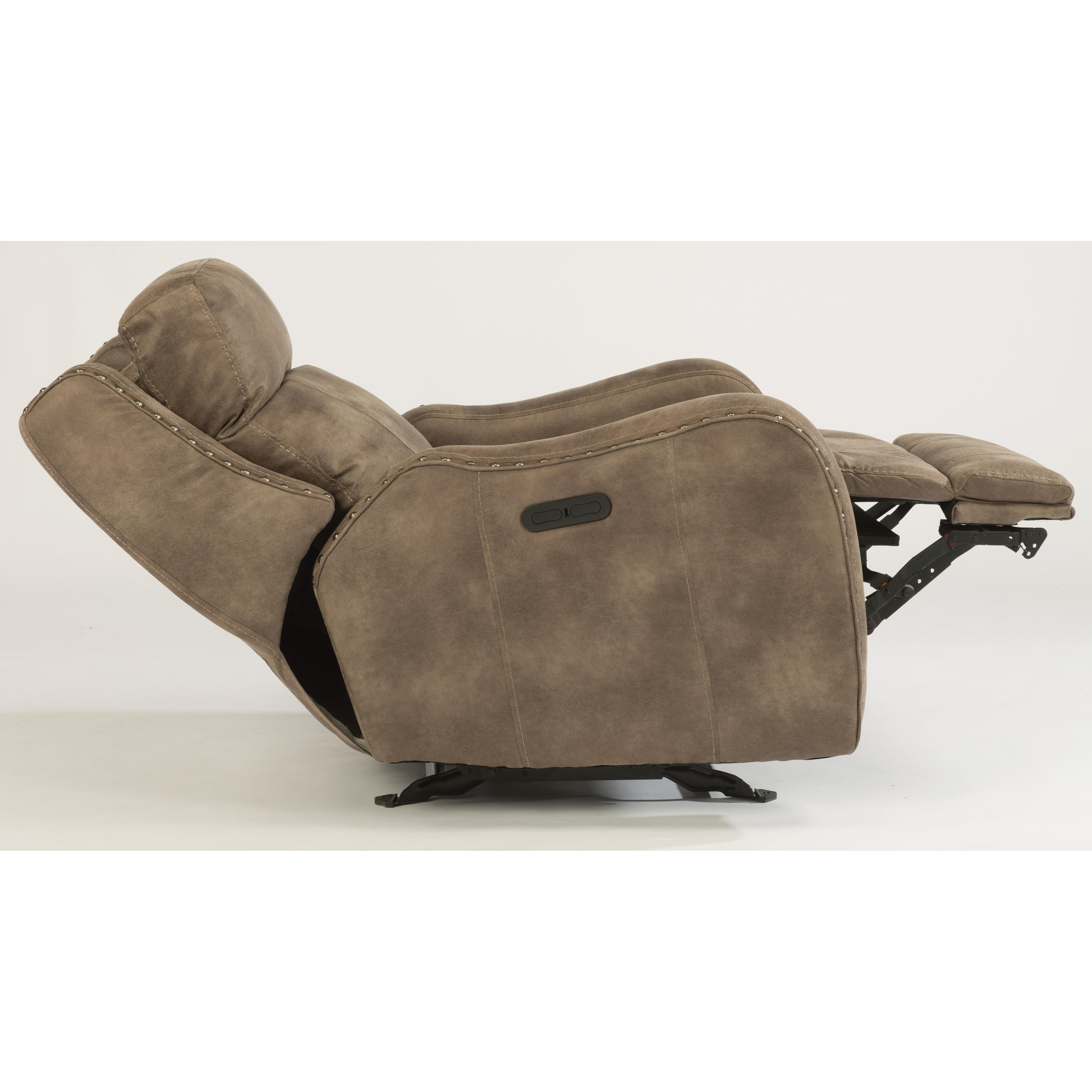 flexsteel power glider recliner with power adjustable headrest and usb port