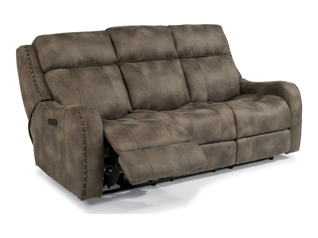 Flexsteel Latitudes-SpringfieldPower Rcl Sofa w/ Pwr Headrest