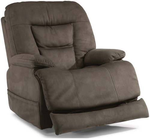 Flexsteel Latitudes-Stanford Casual Power Recliner with Power Headrest and Extending Footrest