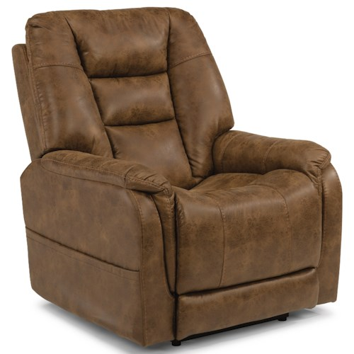 Flexsteel Latitudes-Theo Casual Power Recliner with Power Headrest and USB Port