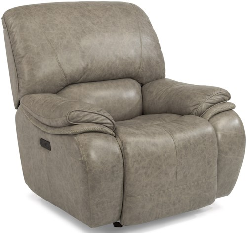 Flexsteel Latitudes-Tobin Power Gliding Recliner with Power Headrest and USB Ports