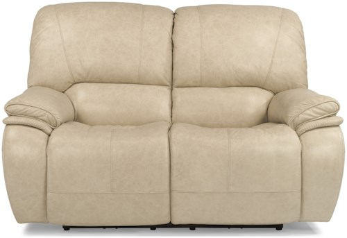Flexsteel Latitudes-Tobin Power Reclining Love Seat with Power Headrest and USB Ports