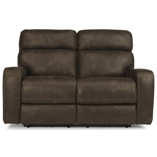 Flexsteel Latitudes Tomkins Power Reclining Loveseat With Usb Port