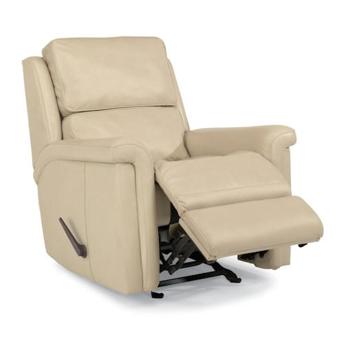 Flexsteel Latitudes-Tosha Modern Rocker Recliner with Folded Pillow Arms