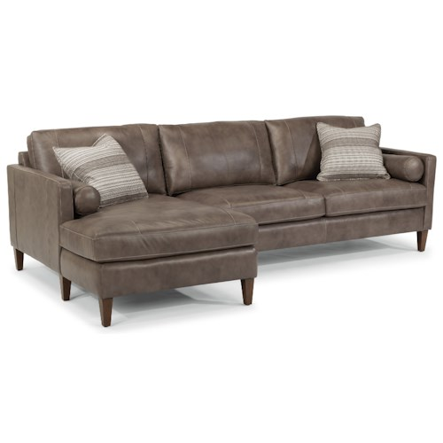 Flexsteel Latitudes-Vivian Contemporary Sectional with Left Arm Facing Chaise