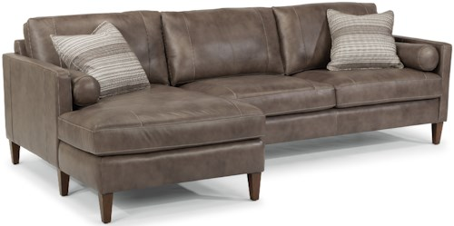 Flexsteel Laudes Vivian Contemporary Sectional With Left Arm Facing Chaise