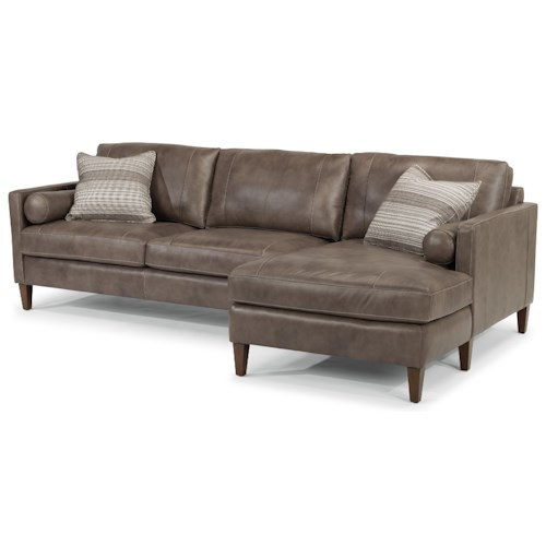 Flexsteel Latitudes-Vivian Contemporary Sectional with Right Arm Facing Chaise