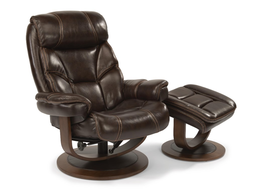 Flexsteel Latitudes-WestReclining Chair and Ottoman Set