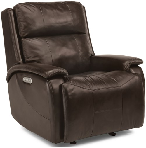 Flexsteel Latitudes-Wheaton Casual Power Gliding Recliner with Power Headrest and USB Port