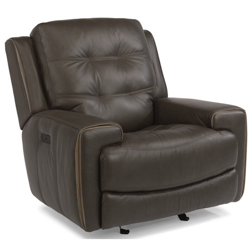 Flexsteel Latitudes-Wicklow Power Glider Recliner with Power Tilt Headrest and USB Port