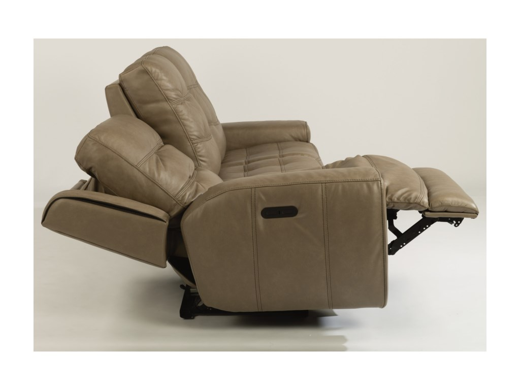 Flexsteel Latitudes-WicklowPower Reclining Loveseat with Power Headrest