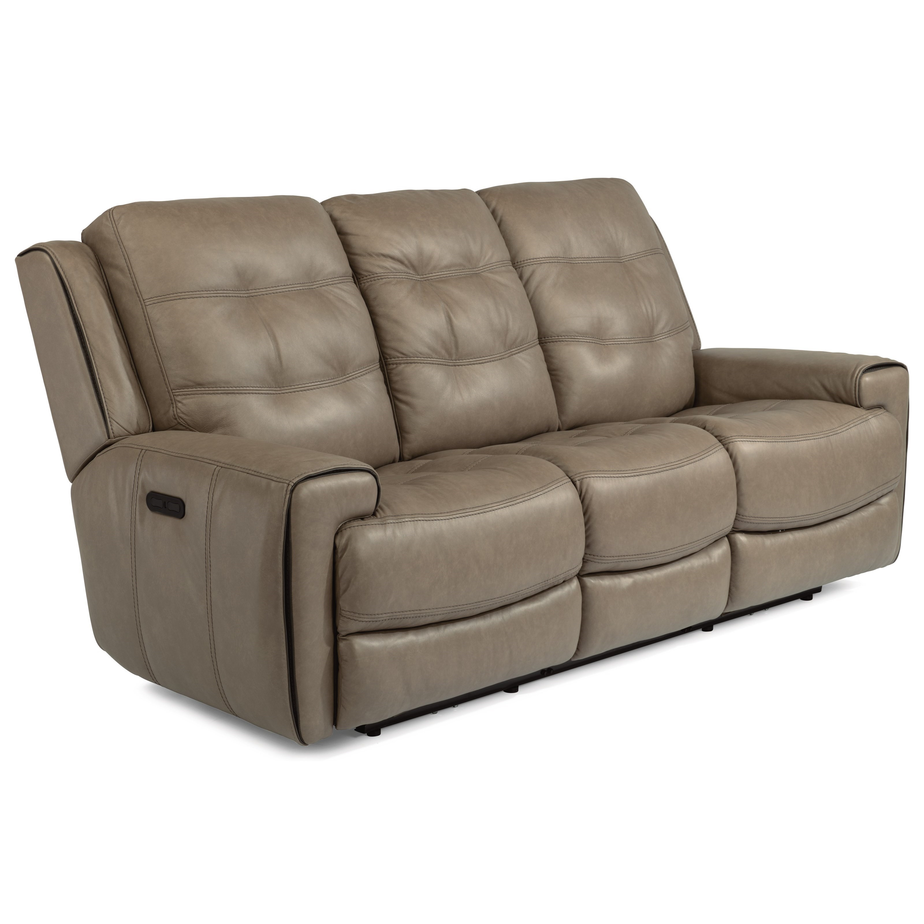 - Flexsteel Latitudes-Wicklow Power Reclining Lay-Flat Sofa With