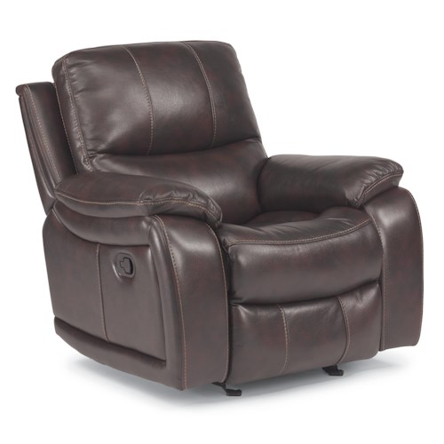 Flexsteel Latitudes - Woodstock Glider Recliner with Pillow Arms