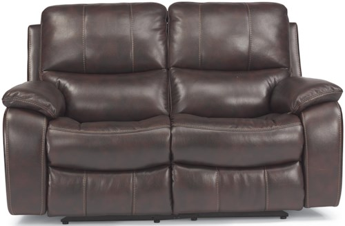 Flexsteel Latitudes - Woodstock Double Reclining Love Seat with Pillow Arms