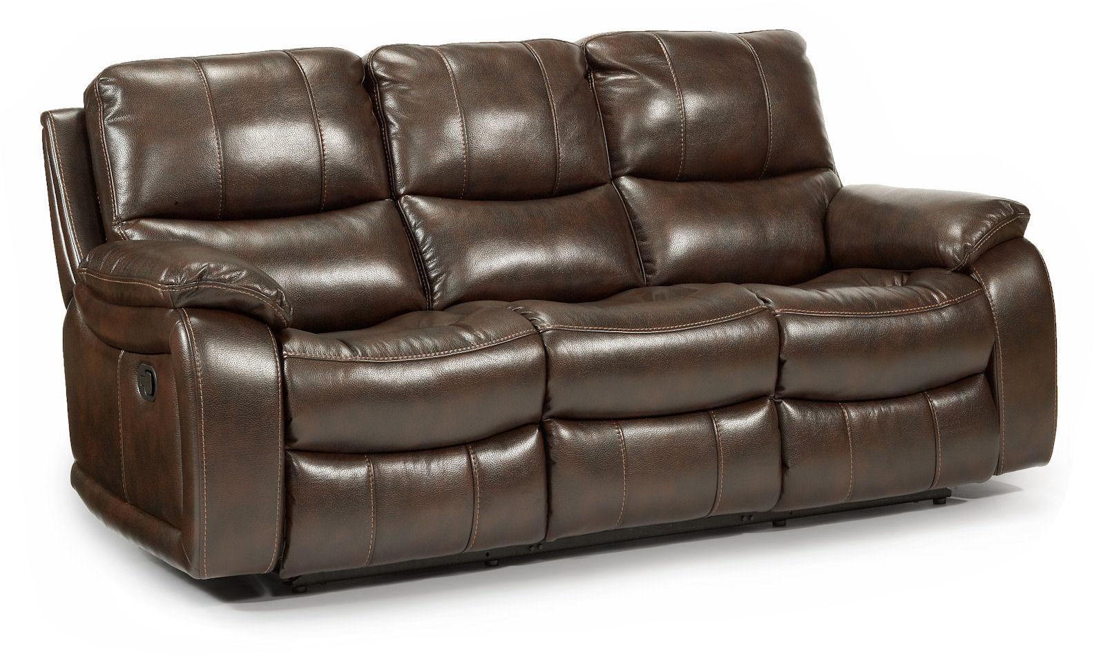 Flexsteel Latitudes   WoodstockDouble Reclining Sofa ...