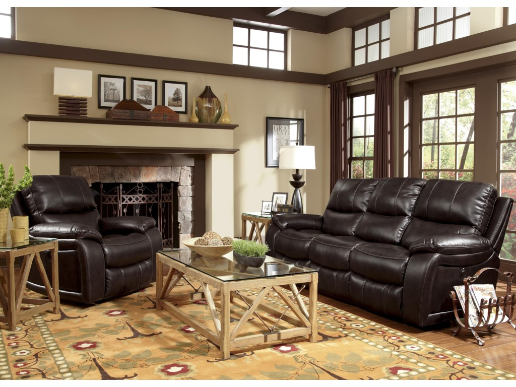 Flexsteel Latitudes - WoodstockDouble Reclining Power Sofa