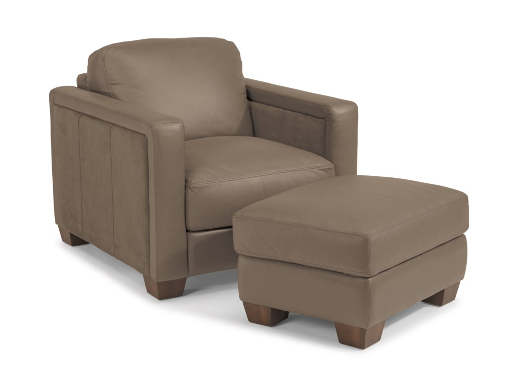 Flexsteel Latitudes-WymanChair and Ottoman Set