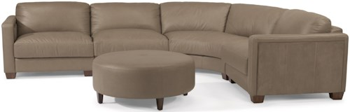 Flexsteel Latitudes-Wyman Contemporary 5 Seat Rounded Sectional