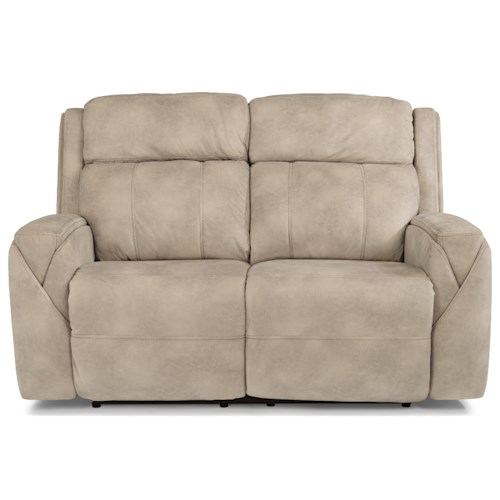Flexsteel Latitudes-Zara Power Reclining Love Seat with Power Headrests and USB Ports