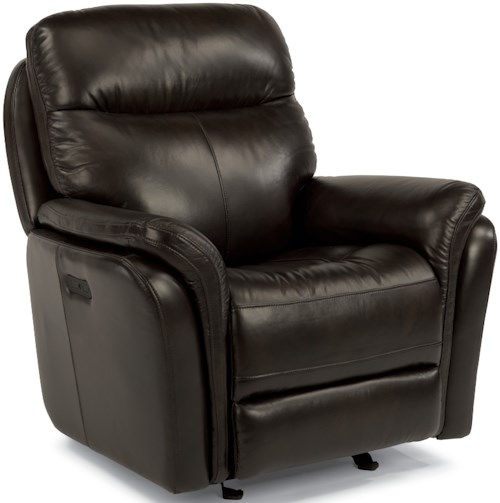 Flexsteel Latitudes-Zoey Power Gliding Recliner with Power Headrest and USB Ports