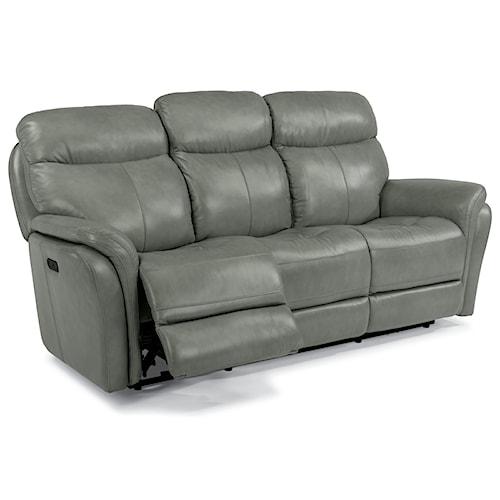 Flexsteel Latitudes-Zoey Power Reclining Sofa with Power Headrest and USB Ports
