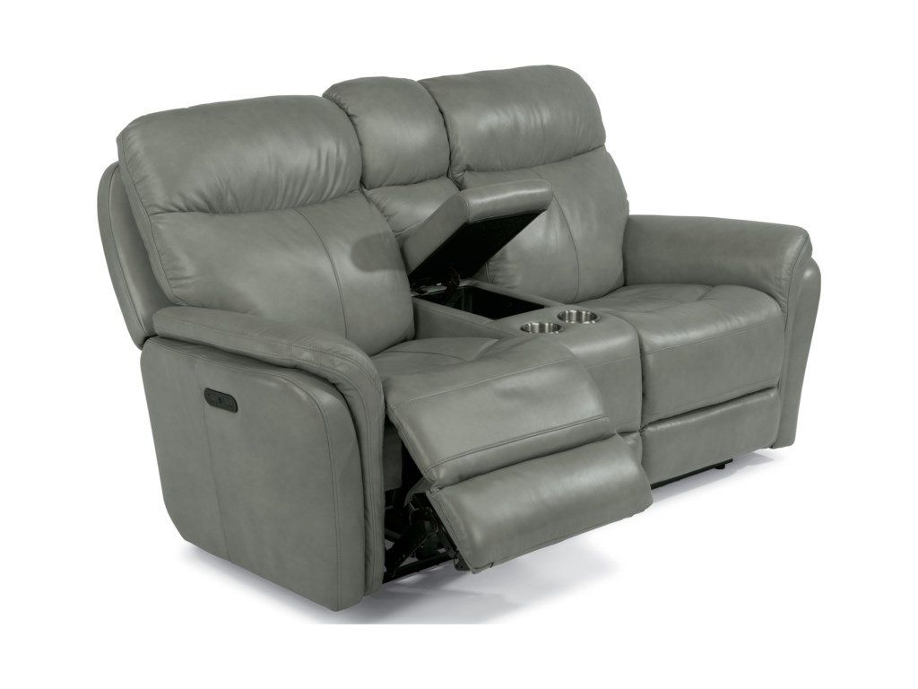 Flexsteel Latitudes-ZoeyPower Reclining Love Seat with Console