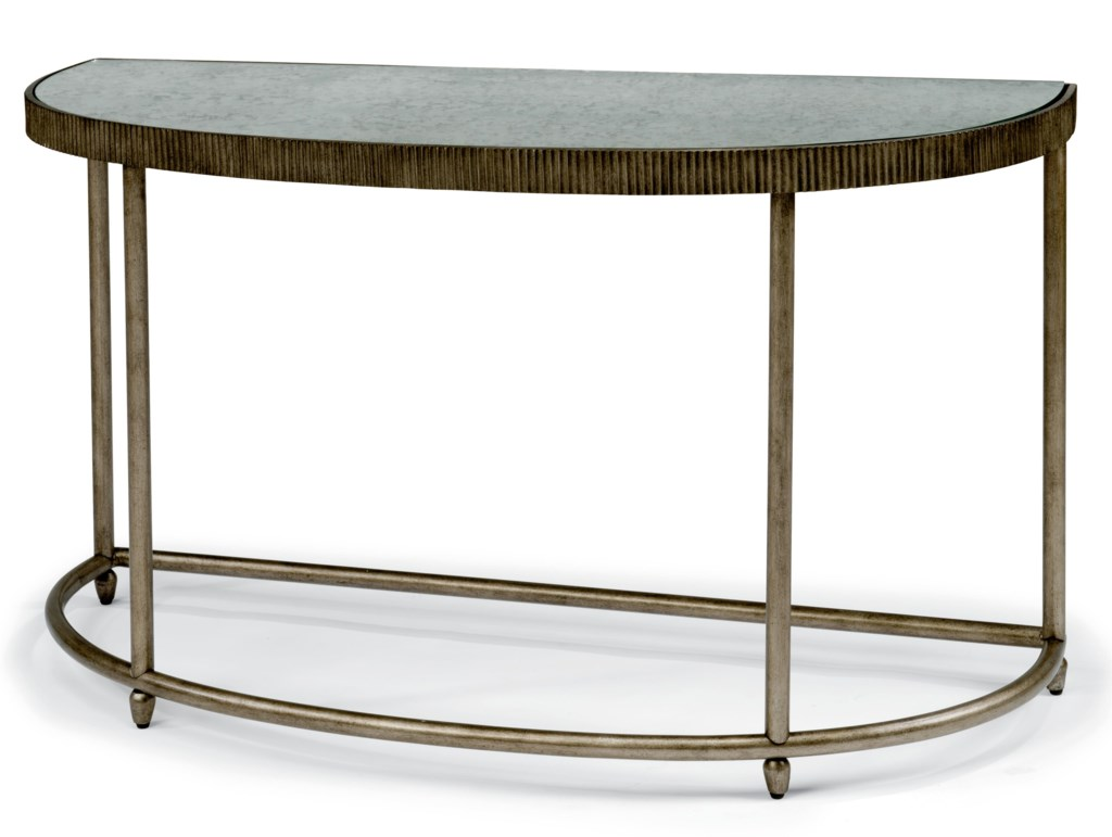 Flexsteel Legacy Transitional Sofa Table With Antiqued Mirror Top  ~ Transitional Sofa Tables